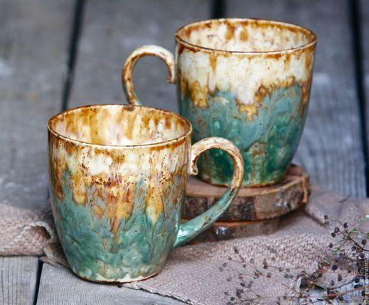 Кружки и чашки ручной работы. Ярмарка Мастеров - ручная работа. Купить Керамическая чашка. Handmade. Комбинированный, кружка, фаянс