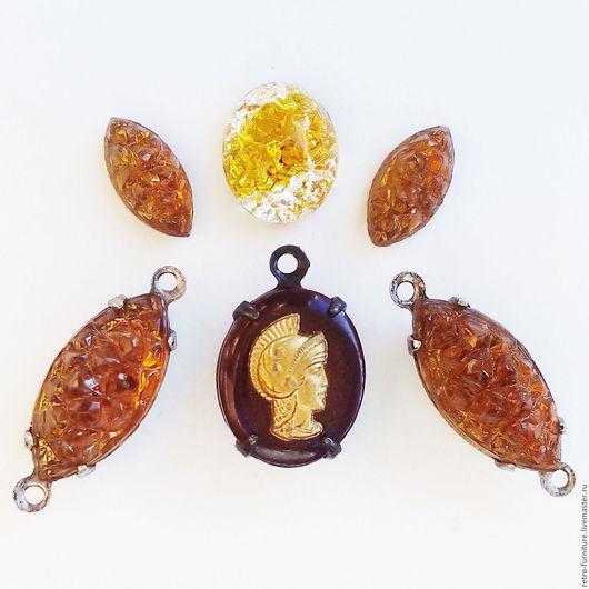 """Для украшений ручной работы. Ярмарка Мастеров - ручная работа. Купить Винтажный набор:стразы, кристаллы, кабошоны, подвески """"Рим"""". Handmade."""
