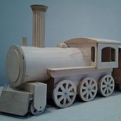 """Куклы и игрушки ручной работы. Ярмарка Мастеров - ручная работа Игрушка деревянная """"Паровоз с вагонами"""". Handmade."""