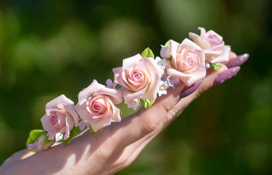 Ободок с розами 2, Заколки, Липецк,  Фото №1