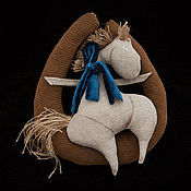 Куклы и игрушки ручной работы. Ярмарка Мастеров - ручная работа Лошадка на подкове. Handmade.