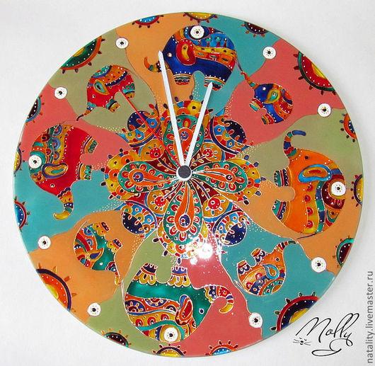 """Часы для дома ручной работы. Ярмарка Мастеров - ручная работа. Купить Часы настенные """"Индия"""". Handmade. Часы настенные"""