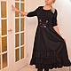 Платья ручной работы. Ярмарка Мастеров - ручная работа. Купить платье комбинированное стиль бохо. Handmade. Черный, шнуровка, трикотаж