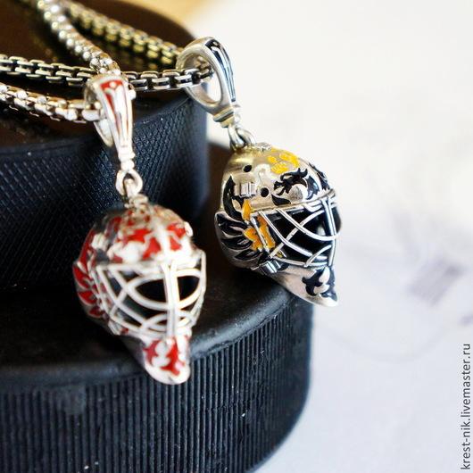 Кулоны, подвески ручной работы. Ярмарка Мастеров - ручная работа. Купить кулон Маска Вратаря точная копия Goalie Mask pendant. Handmade.