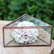 Свадебный салон handmade. Livemaster - original item Box of glass. Triangular box. Jewelry box for rings. Handmade.