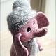 Игрушки животные, ручной работы. Заказать Слонёнок Фабио. Оksana Caccioppoli. Ярмарка Мастеров. Слон, валяный слон, игрушка из шерсти
