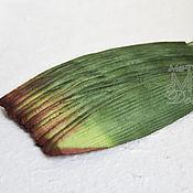 Материалы для творчества ручной работы. Ярмарка Мастеров - ручная работа 50 шт Листья тюльпана бумага малбери. Handmade.