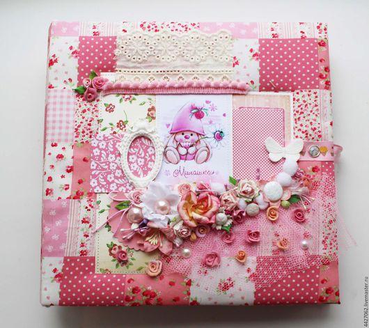 Фотоальбомы ручной работы. Ярмарка Мастеров - ручная работа. Купить Фотоальбом для девочки №38. Handmade. Розовый, фотоальбом 1 год