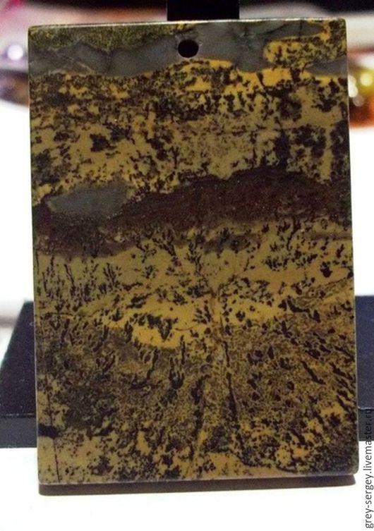 Для украшений ручной работы. Ярмарка Мастеров - ручная работа. Купить Японская художественная яшма - подвеска. Handmade. Хаки
