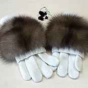 Аксессуары handmade. Livemaster - original item Fingerless gloves with sable fur. avtoledi. no. №2. Handmade.