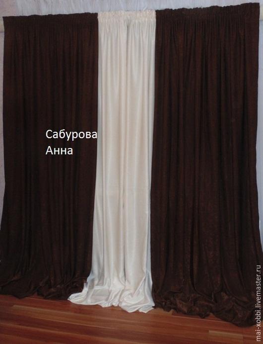 Текстиль, ковры ручной работы. Ярмарка Мастеров - ручная работа. Купить шторы для гостинной пошив на заказ. Handmade. Разноцветный