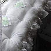 Для дома и интерьера ручной работы. Ярмарка Мастеров - ручная работа Сидушка на скамейку, подоконник в стиле шебби. Handmade.
