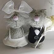 Куклы и игрушки ручной работы. Ярмарка Мастеров - ручная работа Свадебные котики. Handmade.
