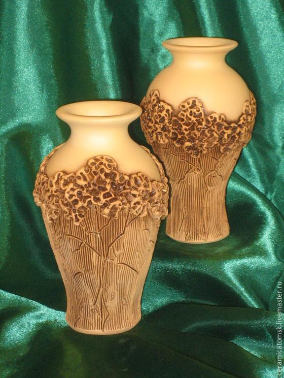 Керамическая ваза Сирень