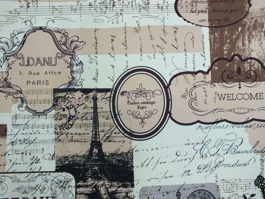 """Шитье ручной работы. Ярмарка Мастеров - ручная работа. Купить Ткань плотная """"Воспоминания о Париже"""". Handmade. Хлопок, портьерная ткань"""