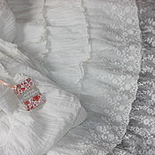 Одежда ручной работы. Ярмарка Мастеров - ручная работа Нижняя юбка  в бохо стиле  прованс винтаж, 2 ряда кружева. Handmade.