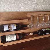Для дома и интерьера handmade. Livemaster - original item Shelf for wine. Handmade.