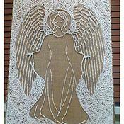 Картины и панно ручной работы. Ярмарка Мастеров - ручная работа Ангел-Хранитель в стиле стринг-арт. Handmade.
