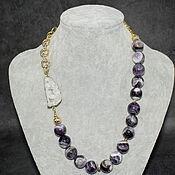 Украшения handmade. Livemaster - original item Necklace combined with Madagascar amethyst and gold-plated chain. Handmade.