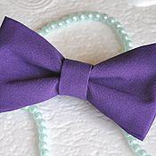 Аксессуары ручной работы. Ярмарка Мастеров - ручная работа Галстук-бабочка темно-фиолетовый. Handmade.