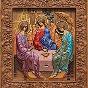"""Иконы ручной работы. Ярмарка Мастеров - ручная работа Икона """"Святая Троица"""". Handmade."""
