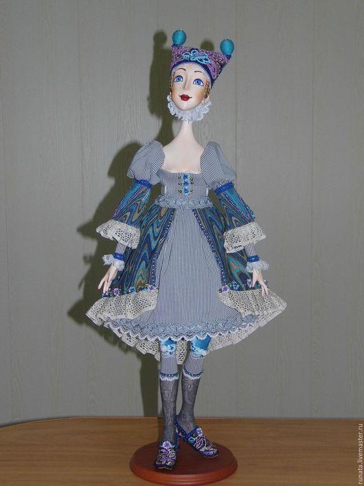 """Коллекционные куклы ручной работы. Ярмарка Мастеров - ручная работа. Купить """"Мелодия"""". Handmade. Бирюзовый, бисер, вельвет, шёлк"""