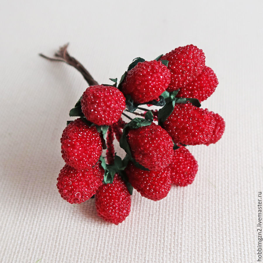 8d33d2870dbe2 ручной работы. Ярмарка Мастеров - ручная работа. Купить Декоративные ягоды  Малина 12 шт. ...