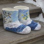 """Обувь ручной работы. Ярмарка Мастеров - ручная работа """"Весна"""" домашние валенки. Handmade."""