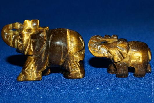 Статуэтки ручной работы. Ярмарка Мастеров - ручная работа. Купить Слоник из натурального камня. 2 размера.. Handmade. Комбинированный, цитрин