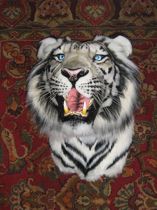 Животные ручной работы. Ярмарка Мастеров - ручная работа. Купить Белый тигр (муляж). Handmade. Эксклюзивный подарок, корпоративный подарок
