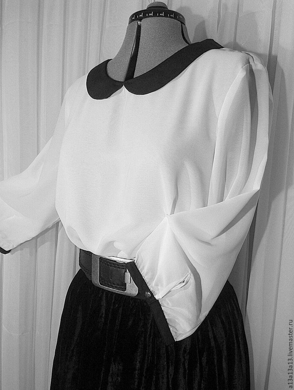 Шифоновая блузка белая в москве