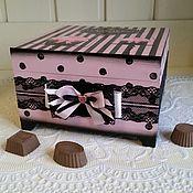 """Для дома и интерьера ручной работы. Ярмарка Мастеров - ручная работа Шкатулка для конфет и печенья """"Алиса"""". Handmade."""