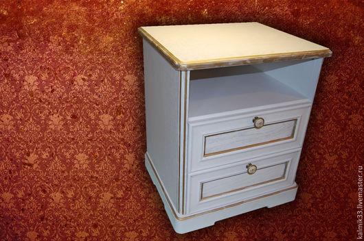 Мебель ручной работы. Ярмарка Мастеров - ручная работа. Купить Тумбочка прикроватная. Handmade. Белый, лак, лак