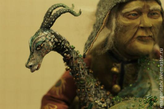 Коллекционные куклы ручной работы. Ярмарка Мастеров - ручная работа. Купить старик и дракон. Нашел дом.. Handmade. Авторская кукла