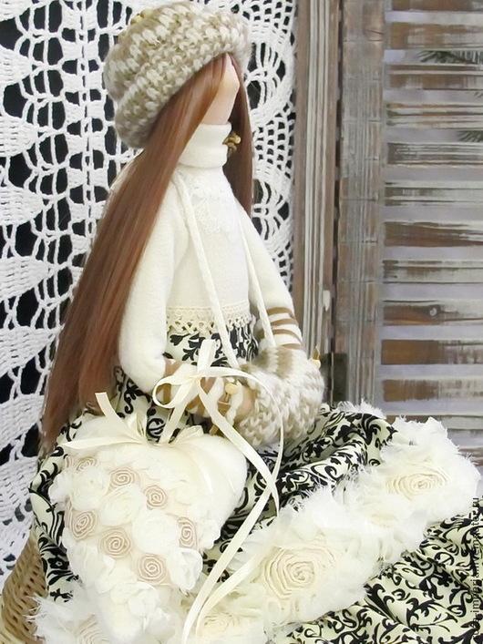 Куклы Тильды ручной работы. Ярмарка Мастеров - ручная работа. Купить Тильда Кукла Яна. Handmade. Чёрно-белый, зима