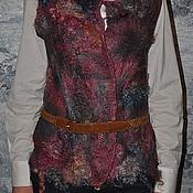 Одежда ручной работы. Ярмарка Мастеров - ручная работа Жилет валянный Серо-розовый. Handmade.