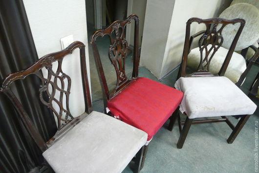 Реставрация. Ярмарка Мастеров - ручная работа. Купить Реставрация, отделка и перетяжка американских стульев.. Handmade. Тёмно-синий, винтаж, патина