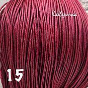 Шнуры ручной работы. Ярмарка Мастеров - ручная работа 5 м/ Шнур 1 мм цвет бордовый вощеный хлопковый (4гр)/ арт.шн-13. Handmade.