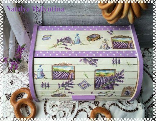"""Кухня ручной работы. Ярмарка Мастеров - ручная работа. Купить Хлебница """"Лавандовая"""". Handmade. Бледно-сиреневый, лавандовый цвет"""