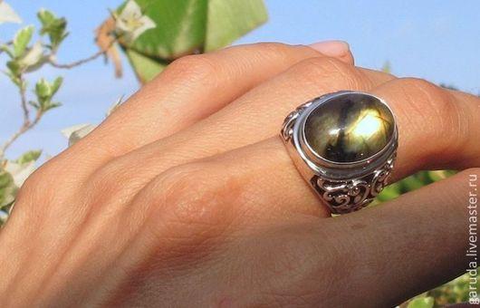 """Кольца ручной работы. Ярмарка Мастеров - ручная работа. Купить Кольцо """"Резное"""" с лабрадоритом. Handmade. Серебряный, кольцо ручной работы"""