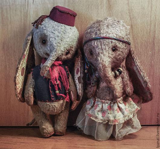 Мишки Тедди ручной работы. Ярмарка Мастеров - ручная работа. Купить Слоники Селим и Улька. Handmade. Серый, друзья тедди
