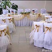 Свадебный салон ручной работы. Ярмарка Мастеров - ручная работа Текстильный декор банкетного зала для праздника или свадьбы. Handmade.
