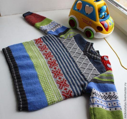 """Одежда для мальчиков, ручной работы. Ярмарка Мастеров - ручная работа. Купить Свитер для мальчика """"Разноцветный"""". Handmade. Джемпер для мальчика"""