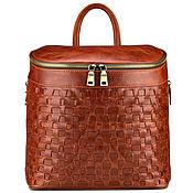 Livemaster - original item Womens leather backpack a2f19ccaf80e0
