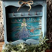 Для дома и интерьера handmade. Livemaster - original item A wall key hanger THE FRAGRANCE OF PROVENCE.LAVENDER. Handmade.