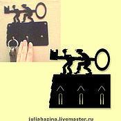 """Для дома и интерьера ручной работы. Ярмарка Мастеров - ручная работа ключница """"воры"""". Handmade."""