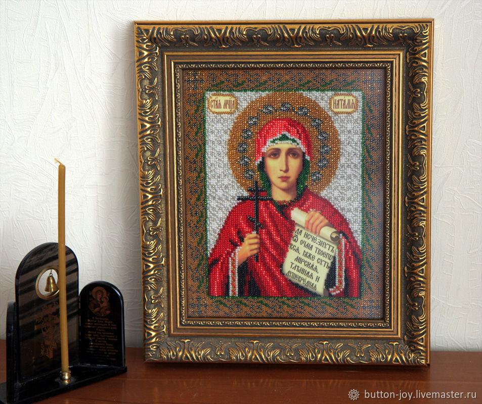 Именная икона бисером Святая Наталья, Иконы, Москва,  Фото №1