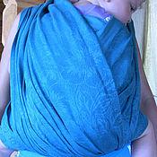 Одежда ручной работы. Ярмарка Мастеров - ручная работа Слинг шарф бирюзовый 4,2 м, 4,7 м, 5,2 метра. Handmade.