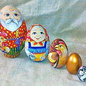 Русский стиль handmade. Livemaster - original item Egg-matryoshka hen is pock-marked. Handmade.