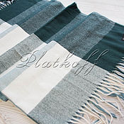 Аксессуары handmade. Livemaster - original item Warm handkerchief in a cage made of Italian fabric